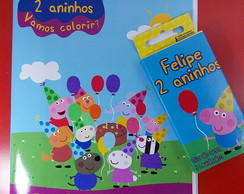 Kit Revista e Giz de Cera Peppa Pig
