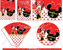 Kit festa digital Minnie vermelha