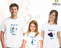 Kit 3 camisetas- Frozen 02