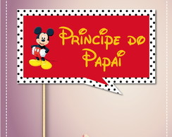 Plaquinhas Divertidas Mickey
