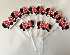 Toppers para doces e cupcake Minie