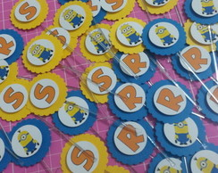 Tag / Topper para doces Minions