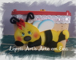 Pote de Sorvete Decorado com Eva