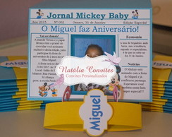 Convite Jornal | Mickey Mouse Baby