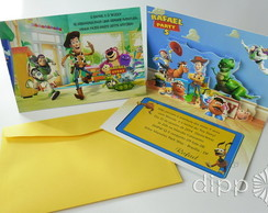 Convite Toy Story - POP UP - modelo 2