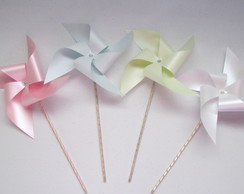 Cataventos de Papel Decorativos Tons Pastel