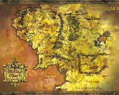 Poster - Lord of the Rings - Classic Map