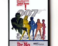 Quadro James Bond (Cartaz Dr. No)