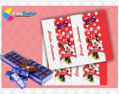 Rótulo para chocolate Minnie