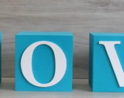 LOVE cubos Decorativos 10 cm