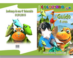 Revista de Colorir Dinotrem