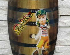 "Porta 4 Chaves Barril - ""CHAVES"""