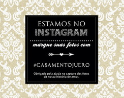 Placa Decorativa Estamos no Instagram