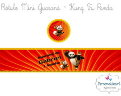 Rótulo Mini Guaraná - KUNG FU PANDA