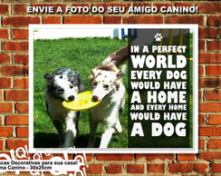 PLACA DECORATIVA AMOR AO ANIMAIS