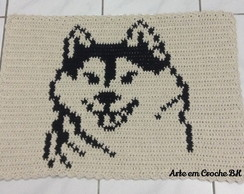 Tapete Croche Barbante Husky