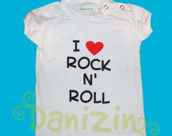 T-Shirt Bb Manga Curta I ♥ Rock