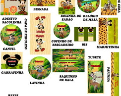 Kit Digital Mickey Safari- 10 ITENS