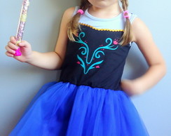 vestido fantasia anna do frozen