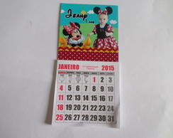 imã minnie vermelha com calendario