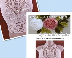 Receita Top Cropped Louise Impressa