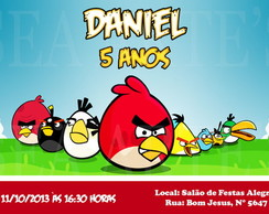 Arte Convite Digital - Angry Birds