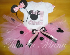 Fantasia Tutu Minnie rosa