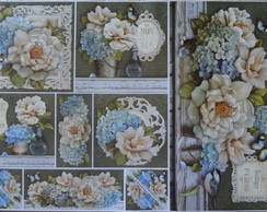 Papel Decoupage Flores PD-890