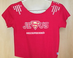 Camiseta Cropped customizada Jesus