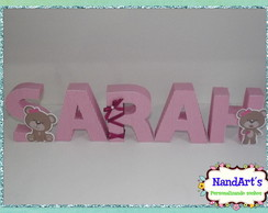 Letras decorativas 3D- Ursa M&R
