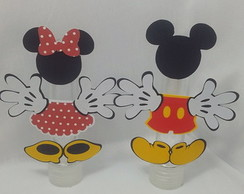 Tubete decorado - mickey e Minnie