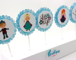 Topper Cupcake Personagens Frozen