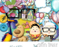 Kit Scrapbook Digital Up Altas Aventuras