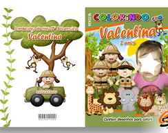 Revista de colorir personalizada Safari