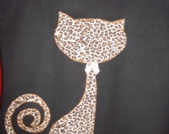 Camisetas em Patch Aplique Gato