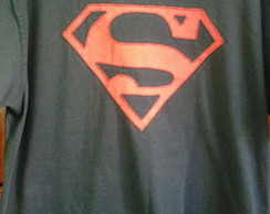 Camisetas em Patch Aplique Supermam