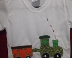 Camisetas em Patch Aplique Tren