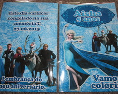 Revista colorir Frozen 14x10