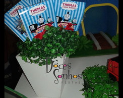 Pirulitos com capinha decorada thomas