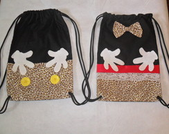 mochila Minnie e Mickey (safari)