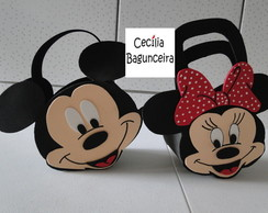 BOLSINHA SURPRESA MICKEY OU MINNIE 3D