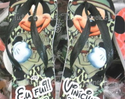 Chinelo Personalizado Mickey Safari