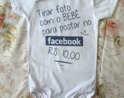 Body bebê divertido Facebook
