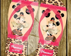 Chinelo Personalizado Minnie Safari