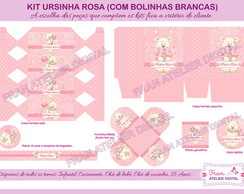 Kit Digital Festa Ursinha Rosa