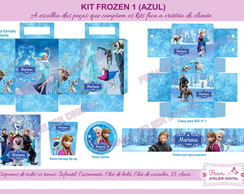 Kit Digital Frozen (Azul)