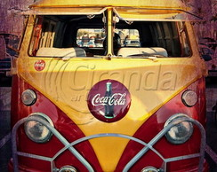 Placa Decorativa Kombi coca-cola