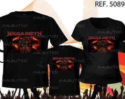 camiseta rock megadeth kit com 3