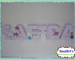 Letra decorativa 3D- Frozen