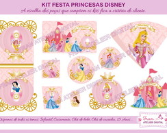 Kit Digital Festa Princesas Disney